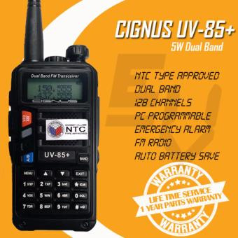 Cignus UV-85+ 5 Watts Dual Band Analog Portable Two-Way Radio (Black)