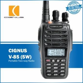 Cignus V-85 5 Watts Dual Band Analog Portable Two-Way Radio (Black) ...