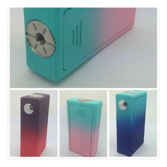 Cigreen rubberized abs box mod light blue with royal blue(mod only) - 2