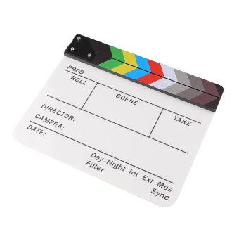 Clapperboard Acrylic Movie Action Slate Clapper Board