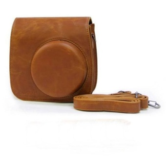Classic Brown PU Leather Camera Case Bag For Instax Mini8 Mini8s BR- intl