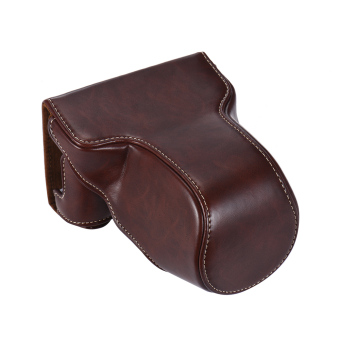 Classic PU Leather Camera Case Bag Protective Pouch with ShoulderStrap for Fuji Fujifilm X-A1 X-A2 X-A3 X-M1 X-A10