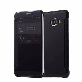 Clear Cover Flip View For Samsung Galaxy A7 2017 (Black)