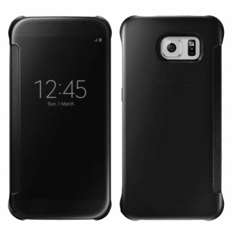 Clear Flip View Cover for Samsung Galaxy S7 Edge (Black) - 5