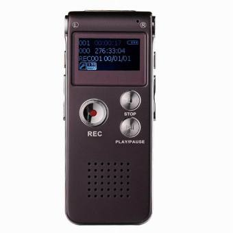CM112 Rechargeable Digital Voice Recorder MP3 Player - Wine Red(8GB) - intl - 2