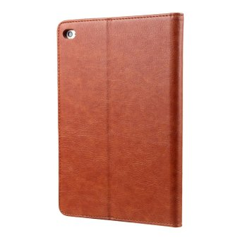 CMAI2 Leather Flip Photo/Card Slots Tablet Cover Case for iPad Air2 - Brown - intl - 2