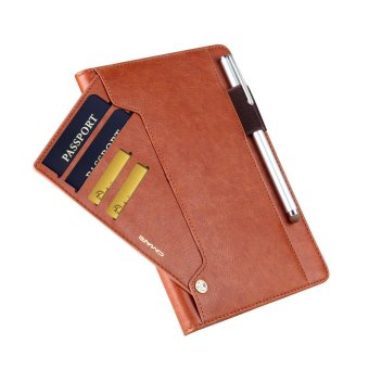 CMAI2 Leather Flip Photo/Card Slots Tablet Cover Case for iPad Air2 - Brown - intl - 5