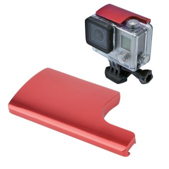 CNC Aluminum Alloy Back Door Clip Lock Buckle for GoPro Hero 4 3+Housing Red
