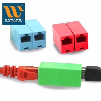 Color Network Straight Head 8P8C Straight Head RJ45 Cable ConnectorCable Connect (Red) - 3