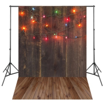 Colorful Lights Brown Wood Board Photography Backdrops PhotoBackground Light Spot Fond Navidad - intl