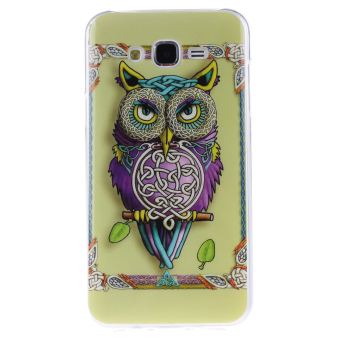 Colorful OWL Printed Gel Rubber TPU Gel Silicone Soft Case Cover Skin Protective for Samsung Galaxy J5 / J500 - intl