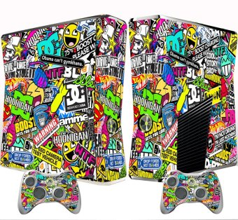 Colorful Skin Sticker For Xbox 360 Slim Console + Controller VinylDecal