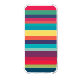 Colorful Stripe Design TPU Back Cover Case for LG Stylus 3