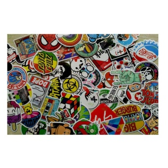 Computers Laptops Skin Decal Stickers 100Pcs Random Vinyl DecalGraffiti Sticker Bomb Laptop Waterproof Stickers - intl