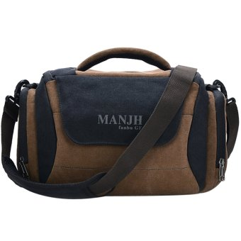 Cool Canvas DSLR Camera Bags Shoulder Bags (Black)