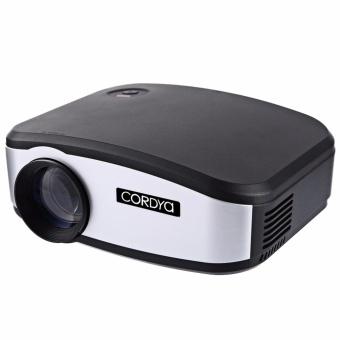 Cordya C6 1200 Lumens 720p HDMI Mini LED Projector (Black/Silver) - 2