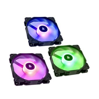 Corsair SP Series, SP120 RGB LED, 120mm High Performance RGB LEDFan- 3 Fans with Controller (CO-9050061-WW)