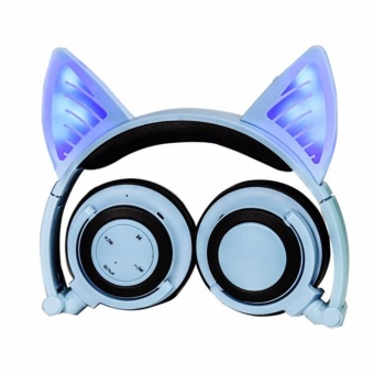 Cosplay Cat Ear Bluetooth Earphone Headphones Wireless Stereo Headset - intl