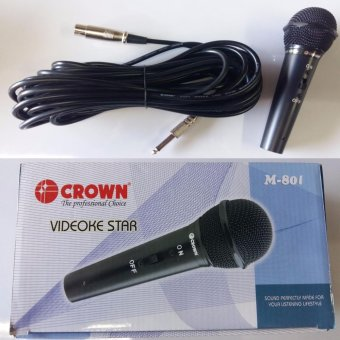 Crown M-801 Heavy Duty Wired Microphone with 10 Meters Cord