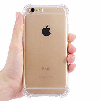 Crystal-Clear-Shockproof-Ultra-thin-TPU-Case-Cover For Iphone 6plus /6s plus (Clear) with Free Phone Ring stand