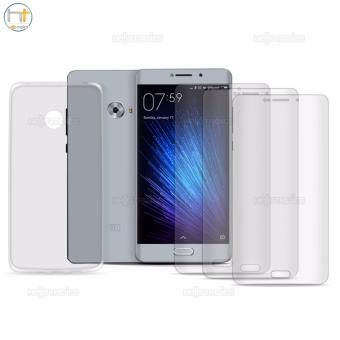 Crystal Clear Tempered Glass Set of 3 with Jelly Case (Clear) for Xiaomi Mi Note 2