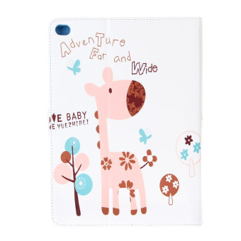 Cute Deer Pattern Protective PU Leather Cover for iPad6 - (Multicolor) - picture 2