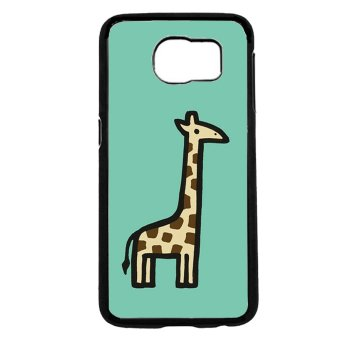 Cute Giraffe Pattern Phone Case For Samsung Galaxy S6 (Black)
