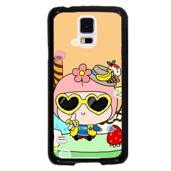 Cute Girl Pattern Case for Samsung Galaxy S5 (Multicolor)
