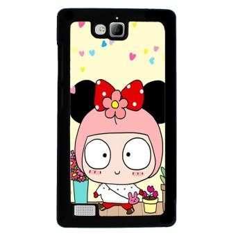 Cute Girl Pattern Phone Case for Huawei Honor 3c (Multicolor)