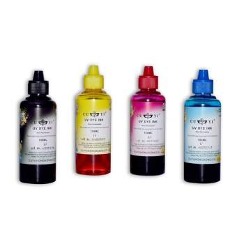 CUYI Inks Universal Dye Ink for Inkjet Printers 100ml Set of 4(CMYK)