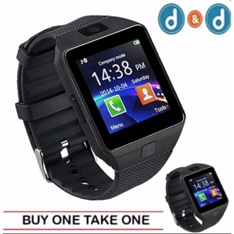 D&D 09 Quad Phone Bluetooth Touch Screen Smart Watch (Black)(BUY ONE TAKE ONE)
