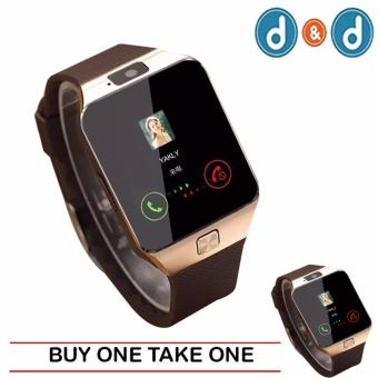 D&D 09 Quad Phone Bluetooth Touch Screen Smart Watch(Gold/Brown) (BUY ONE TAKE ONE)