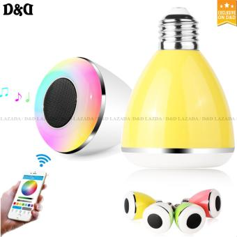 D&D BL08A Bluetooth Smart LED Color Changing Light Lamp Bulb With Speaker(YELLOW)