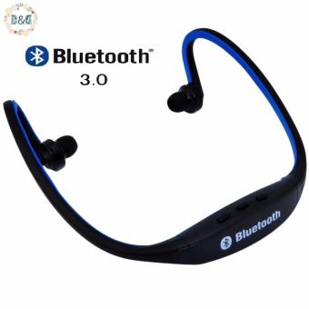 D&D S9 Sports Wireless Bluetooth Stereo Earphone HeadphonesIn-ear Headset Neckband for iPhone 7 Plus/iPhone6S Plus/SE/5S/ forSamsung Android Mobile Phones (Blue)