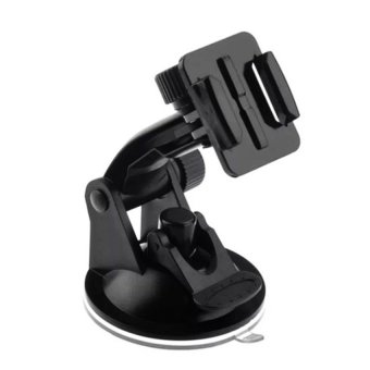 Dash Cam Suction Cup Mount Holder for Sports Cameras like GoProHero, SJCAM, Xiaomi Yi, Soocoo, and Other Sports/Action Cam (Black)