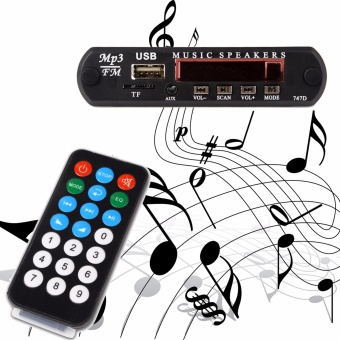 DC 5V Micro USB Power Supply TF Radio MP3 Decoder Board 5V AudioModule for Car Remote Music Speaker - intl