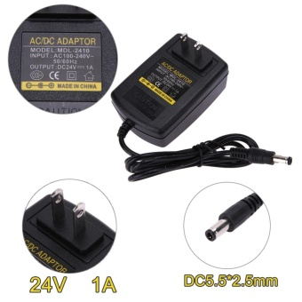 DC24V 1A Adapter AC 100V-240V to DC 24V Converter Power SupplyAdapter 5.5*2.5 mm(Black)-US - intl - 4