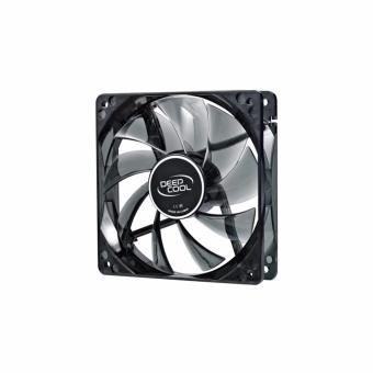 Deepcool Fan Wind Blade 120 Case Fan Hydro 3Pin Molex 26Db 1300Rpm (Transparent Black Frame/Blue Led) - 2