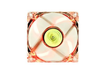 DeepCool XFan 80L/R Case Fan Hydro 3pin Molex 20db 1800rpm(Transparent Frame/Red LED)