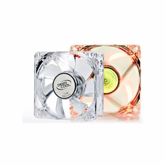 Deepcool XFAN 80mm L/R Transparent Fan Frame with LED Fan (Red)