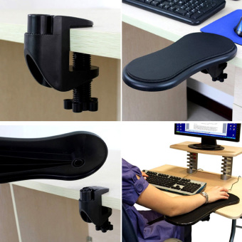 Desk Attachable Computer Table Arm Support Mouse Pads Arm WristRests (Intl) - 3
