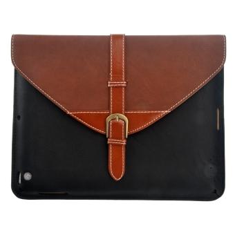 Detachable Stand PU Flip Case Set for iPad 2/3/4 Coffee Black