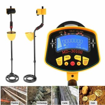 Detecting Equipment MD-3010II Underground Metal Detector Gold Digger Treasure Water Resistant Hunter with LCD Display - intl