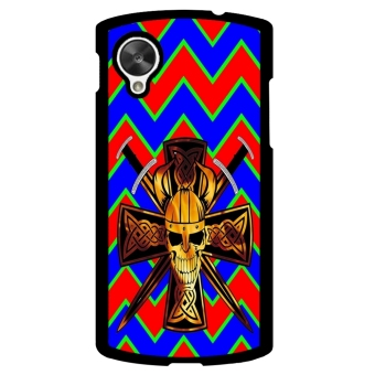 Devil Cross Chevron Pattern Phone Case for LG Nexus 5 (Black)