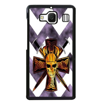 Devil Cross Chevron Pattern Phone Case for XiaoMi RedMi 2 (Black)