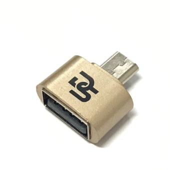 Digistore Micro USB to USB OTG Mini Adapter (Gold) Price Philippines