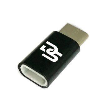 Digistore Type-C to Micro USB Adapter Set of 2 (Black)