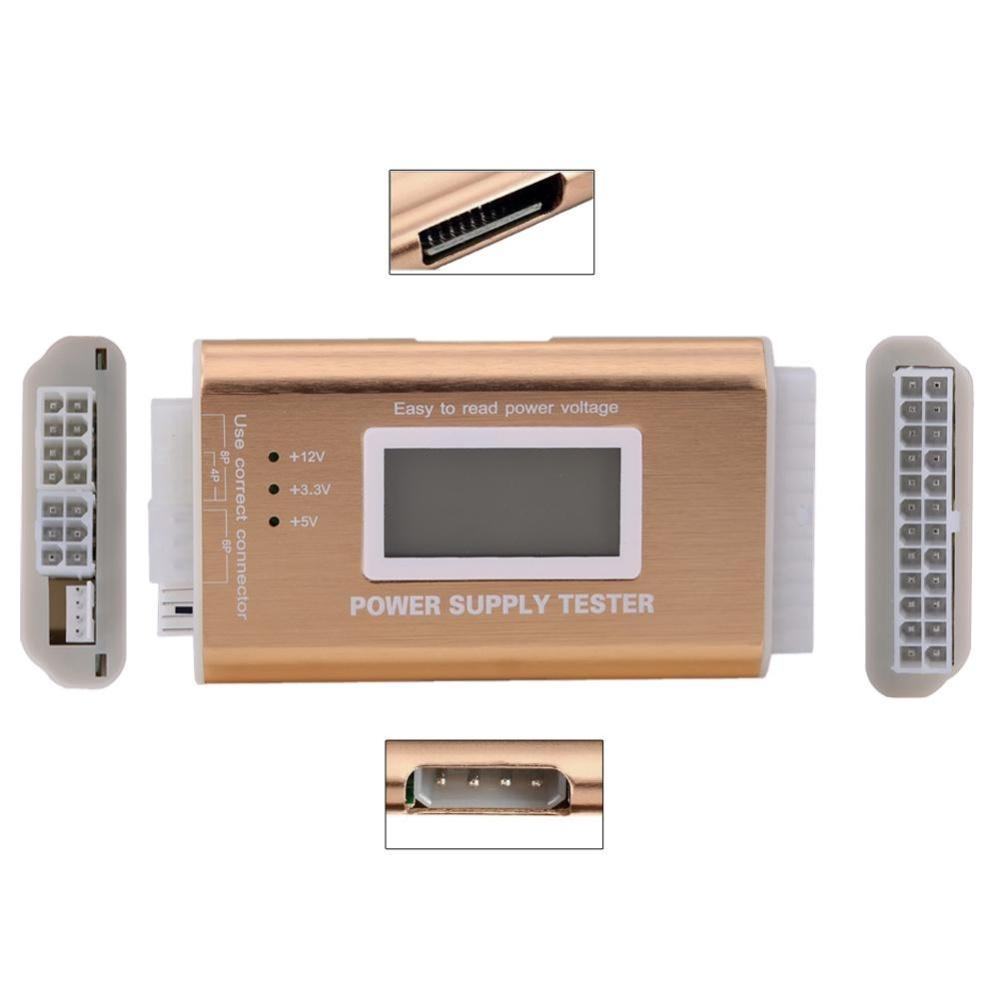 Digital LCD PC Computer 2024 Pin 4 PSU ATX BTX ITX SATA HDD