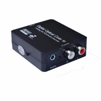 Digital Optical Coax to Analog R/L RCA Audio Decoder Converter Adapter - intl - 5
