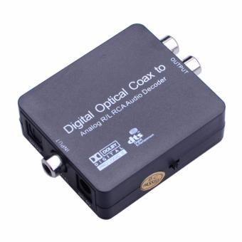 Digital Optical Coax to Analog R/L RCA Audio Decoder Converter Adapter - intl - 2